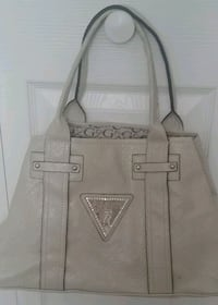 women's Guess leather tote bag