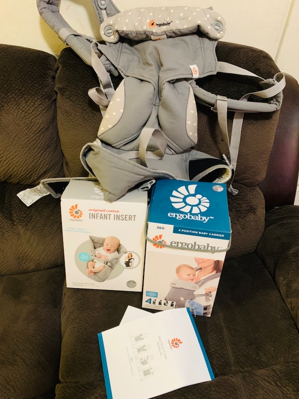 Ergobaby carrier and infant insert  446f1f1f-8c53-446d-88a2-279a760ee39b