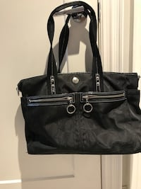 black Coach leather tote bag Mississauga, L4X 2K3
