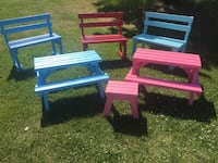 Garden bench and pic nic table St. Albert
