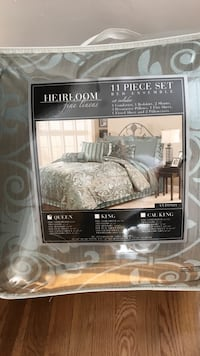 gray and blue Heirloom 11-piece bed comforter set pack Anaheim, 92806