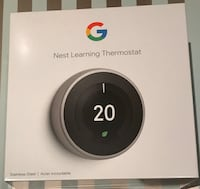 Google Nest Learning Thermostat 3rd Gen in Stainless Steel Richmond Hill, L4E 5E2