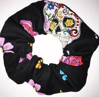 Sugar skull scrunchie St Thomas