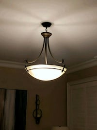 Brown and white pendant light Mississauga, L5N 2X7