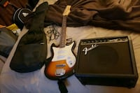 Harmony guitar with fender amp East Stroudsburg, 18302