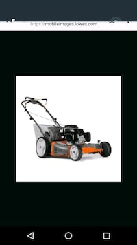 black and orange push mower Chandler, 47610