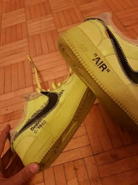 Nike Air Force 1 Low 'Off-White Volt' Shoes - Size 9.5