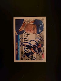 Brett Hull autographed hockey card