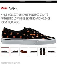 SF Giants Vans Shoes M Sz 8 W 9.5 Albuquerque, 87107