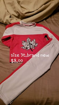 white and red Canadian pants and top set Mississauga, L5L 5P8