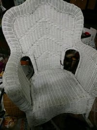 white wicker armchair with ottoman Huntingtown, 20639