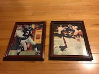 Pair of autographed football player pictures Woodbury, 06798