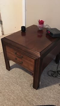 Brown wooden 2-drawer nightstand Regina, S4S
