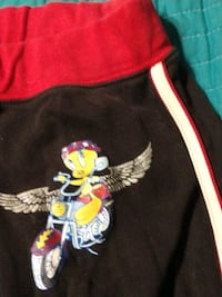 Vintage TWEETY capri pants L XL says BIKER CHICK on back with Glitter Manchester, 03103