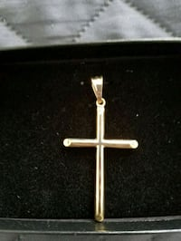 Cross Pendant, Gold Tone
