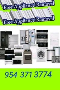 Free appliance Removal  apartments units hotels
