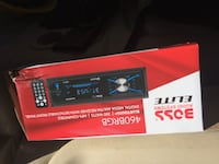 black and red Pioneer 1-DIN car stereo box 44 km