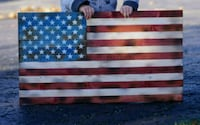 13x24 wooden American flag Suffield, 06078