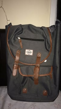 Black and brown leather backpack Abbotsford, V2T 3L3