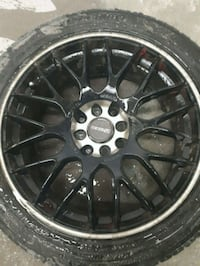 "18"" Tenzo R 8 bolt rims with tires Surrey, V3T 0K2"