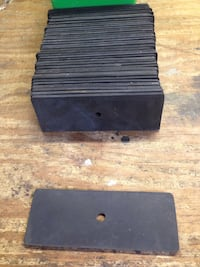 """rubber pads (100 total) 1-7/8"""" x 5"""""""