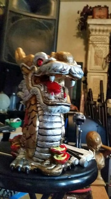 Hand painted Dragon $50 firm