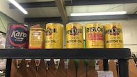 Full unopened vintage oil cans booth e5 flying moose antique mall 9223 w Kellogg wichita  Wichita, 67209
