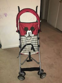 Baby red and white mickey mouse stroller Owings Mills, 21117