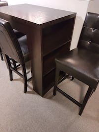 Bar height table and 3 chairs
