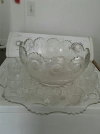 crystal glass punch bowl set Greenville, 27834