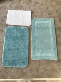 Assortment of 3 Bathroom rugs. Gently used in guest bath that was rarely used.  Taneytown, 21787