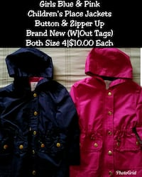 two blue and red zip-up hoodies Allentown, 18102