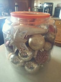 Large Container of Christmas Ornaments Lethbridge