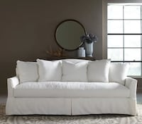 Beautiful Down Filled White Couch FALLSCHURCH
