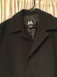 Men's black coat jacket size l