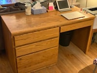 Solid wood and well made office desk in really good condition. Vancouver, V6J 1J3