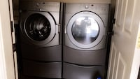Two gray front-load clothes washer and dryer set Riverside, 92503