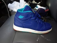 pair of blue Nike Air Force 1 high St. Louis, 63104