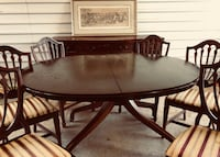 Drexel Travis Court Vintage Dining Table (2 leafs) 6 chairs and Buffet Magnolia, 77354