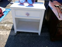 white wooden single-drawer end table Silver Spring, 20906