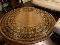 round brown wooden coffee table Irving, 75038