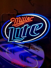 Miller Lite Bar Stool and Table set w/neon sign King George, 22485