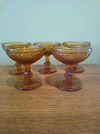 Amber diamond pointed goblets Emmaus, 18049
