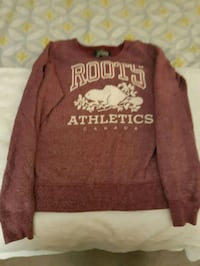 brown and white Aeropostale long-sleeved shirt
