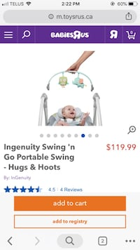 Ingenuity Swing-EUC-Negotiable Mississauga, L5A 3X1