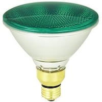 2 MOOD-LITES 90-WATT PAR38 MEDIUM BASE GREEN OUTDOOR HALOGEN FLOOD LIGHT BULB 8274 km