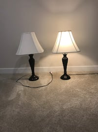 2 table lamps with lampshades Upper Marlboro, 20772
