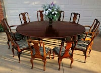 Antique Dining Set with 10 Chairs  Yukon, 73099