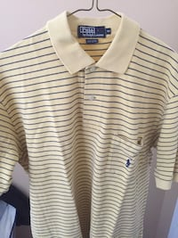 Yellow and blue striped polo shirt Calgary, T3P 1H4