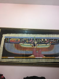 Antique Egyptian papyrus art, beautiful frame very valuable. 19'x5'.  Must sell Toronto, M4Y 1A5